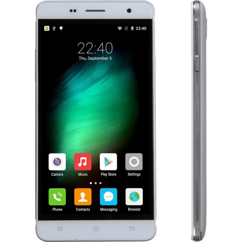 SmartPhone CUBOT H1, 4G, 5.5 HD IPS OGS, Quad Core 1.0 GHz, 2GB DDR3, 16GB Flash, 13 MPx, Alb (include Carcasa Transparenta si Folie Protectie Suplimentara)