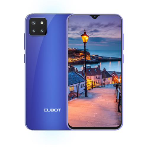 Seria X - Telefon CUBOT X20 PRO, 4G, Helio P60, 6.3 FHD+, 6+128GB, Android 9, Albastru +Husa +Folie