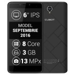SmartPhone - Telefon Mobil CUBOT MAX, Dual SIM 4G, 6 HD IPS, 8Core 1.3 GHz, 3GB + 32GB, Camera 13 MPx, LED Notificare, Android 6.0, Certificat GMS, Negru +BONUS: Husa Silicon si Folie Plastic