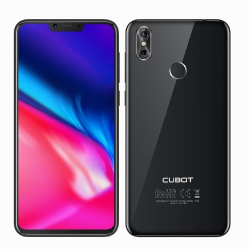 SmartPhone - CUBOT P20, 4G, 6.18 FHD+, 4+64GB, Android 8.1, Negru (include Husa Silicon si Folie)