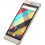 SmartPhone - SmartPhone CUBOT Rainbow Dual SIM, 3G, 5 HD IPS, Quad Core 1.3 GHz, 1GB DDR3, 16GB Flash, 13 MPx, Certificat GMS, Android 6.0, LED Notificare (Verde), Auriu + BONUS: Carcasa Transparenta si Folie Plastic