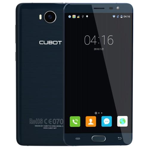 SmartPhone - Telefon Mobil CUBOT Cheetah 2, Dual SIM 4G, 5.5 FHD IPS, 8Core 1.3 GHz, 3GB + 32GB, Camera 13 MPx Samsung, Touch ID, USB Type-C, LED Notificare (Rosu/Verde), Android 6.0, Certificat GMS, Albastru +BONUS: Husa Silicon si Folie Plastic