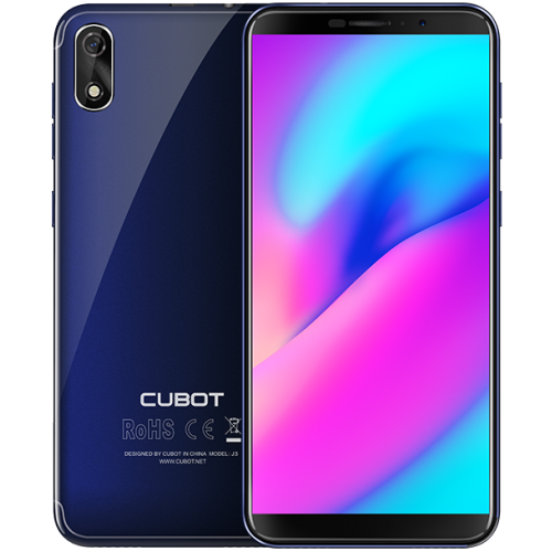 SmartPhone - CUBOT J3, 3G, 5, 1+16GB, Android GO, Albastru (include Husa Silicon si Folie) +BONUS: Inel Suport
