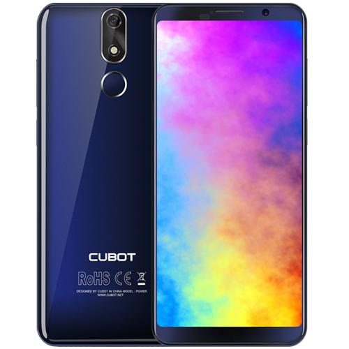 SmartPhone - CUBOT POWER, 4G, 5.99 FHD+, 6+128GB, Android 8.1, Albastru (include Husa Silicon si Folie)