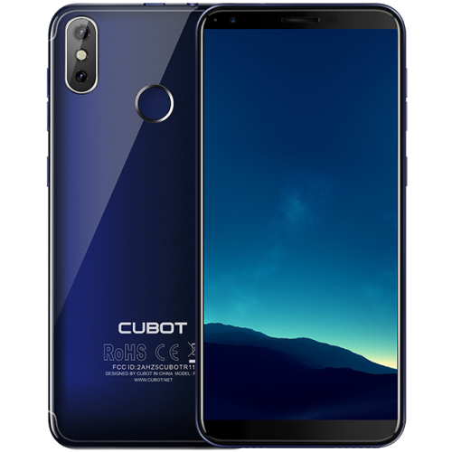 SmartPhone - Cubot R11, 3G, 2+16GB, A 8.1, Albastru (Husa Silicon si Folie)