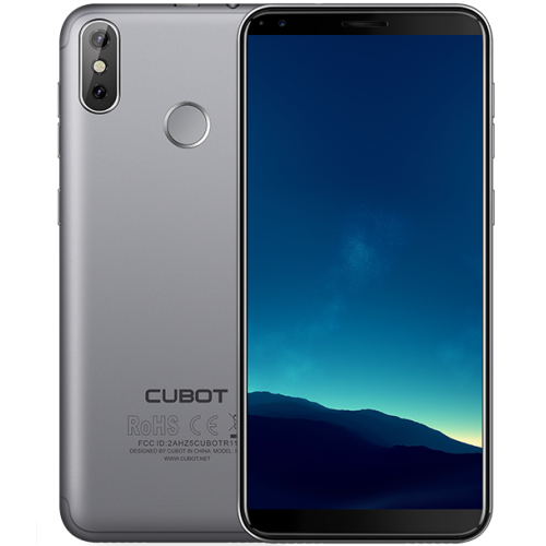 SmartPhone - Cubot R11, 5.5 inch, 2+16GB, Gri (Husa Silicon si Folie)