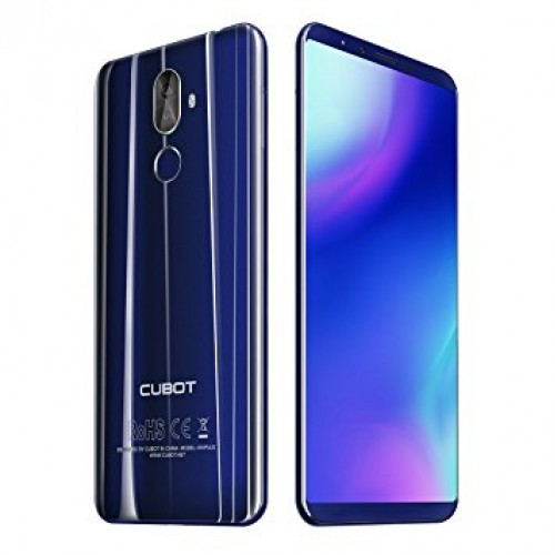 SmartPhone - CUBOT X18 PLUS, 4G, 5.99 FHD+, 4+64GB, Android 8.0, Albastru (include Husa Silicon si Folie)