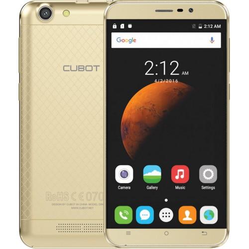 SmartPhone - Telefon Mobil CUBOT Dinosaur, Dual SIM 4G, 5.5 HD IPS, 4Core 1.3 GHz, 3GB + 16GB, Camera 13 MPx, Android 6.0, Certificat GMS, Auriu +BONUS: Husa Silicon si Folie Sticla 9H