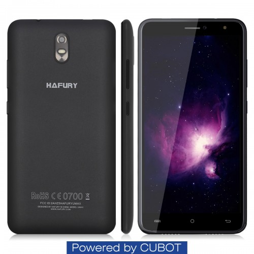 SmartPhone - Telefon Mobil Hafury Umax, Dual SIM 3G, 6 HD IPS, 2+16GB, Negru, BUNDLE (include Husa si Folie)