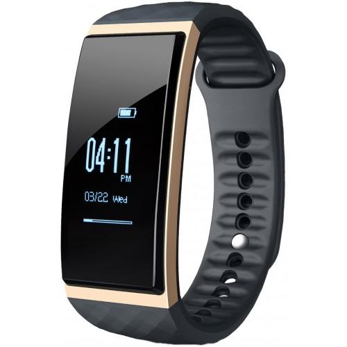 Accesorii Smart - Bratara Inteligenta Cubot Band S1, Ecran Tactil OLED 0.96 inch, Standard Protectie IP65, Ceas, Pedometru, Puls, Monitorizare Somn, Presiune Atmosferica, Temperatura, Altitudine, Alarma, Sedentar, Cronometru, Auriu