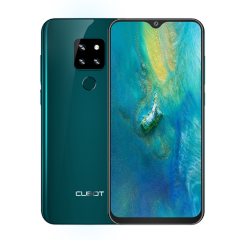 Telefon Cubot P30, 6.3 FHD+, 4+64GB, Android 9, Verde (include Husa Silicon si Folie)