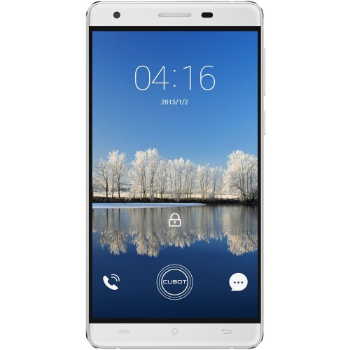EOL - SmartPhone CUBOT H2 Dual SIM, 4G, 5.5 inch HD IPS OGS, Quad Core 1.3 GHz, 3GB DDR3, 16GB Flash, 13 MPx, Alb, Android 5.1